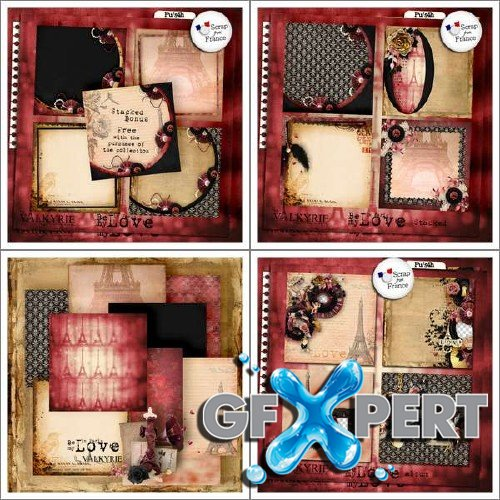 Scrapbooking kit - Be My Love In Paris
