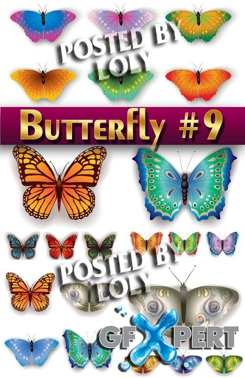 Beautiful butterfly #9 - Stock Vector