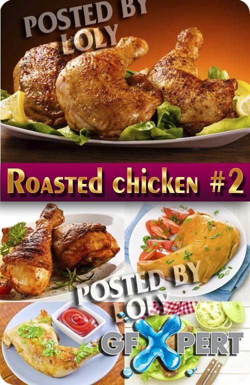 Roasted chicken #2 - Stock Photo