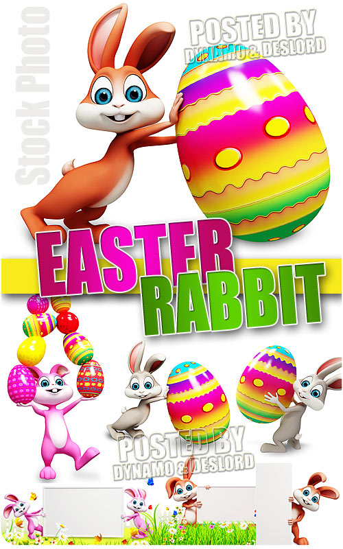 Easter Rabbit 3D - UHQ Stock Photo