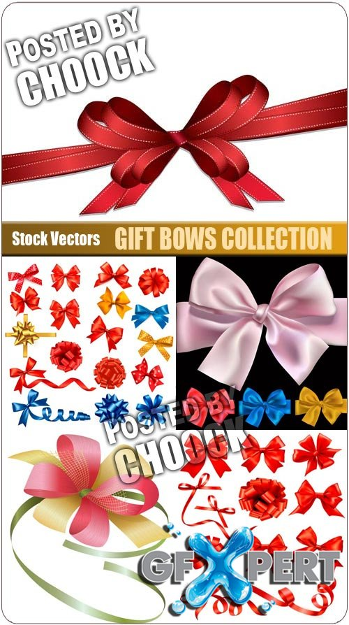 Gift bows collection - Stock Vector