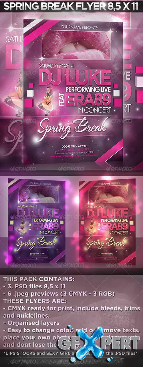 DJ Disco Event/Nightclub/Spring Break Flyer505407