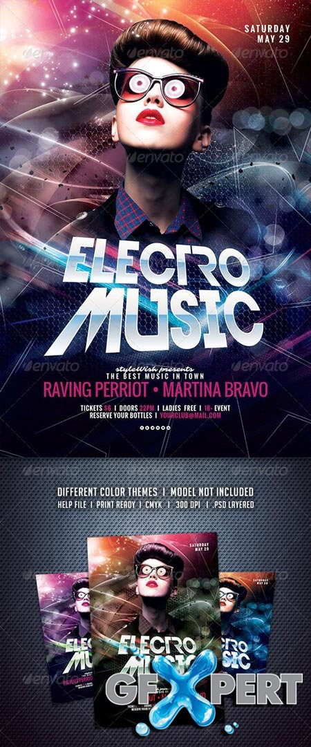 GraphicRiver Electro Music Flyer 6532586