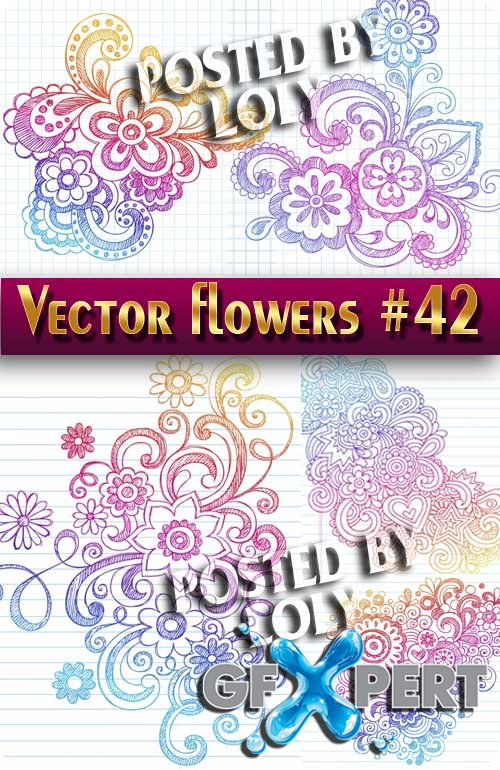 Vector Flowers #42 - Stock Vector