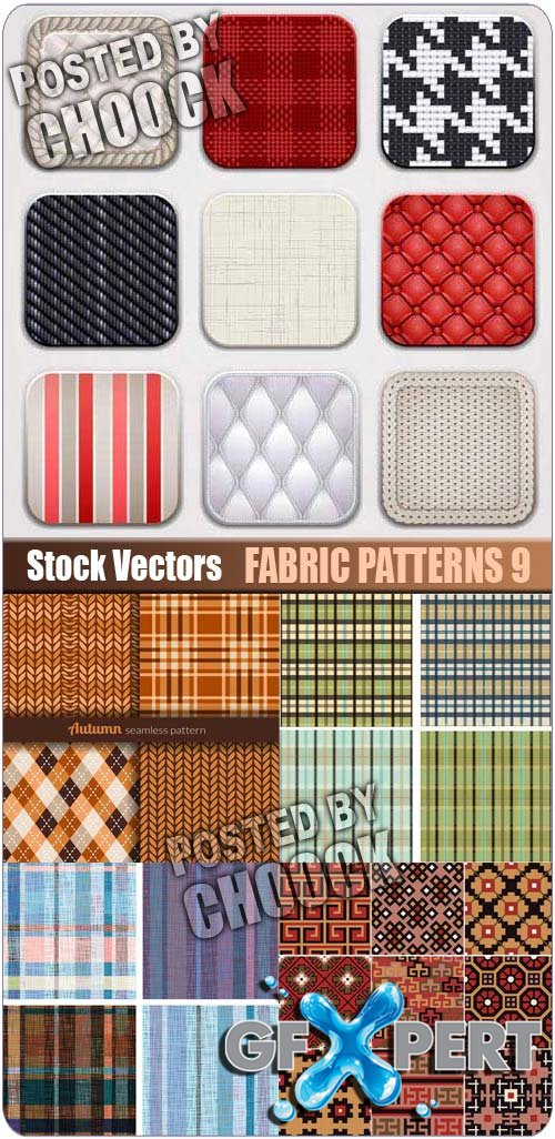 Fabric patterns 9 - Stock Vector