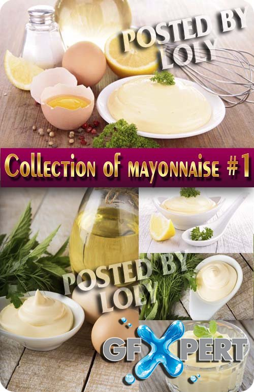 Food. Mega Collection. Mayonnaise #1 - Stock Photo