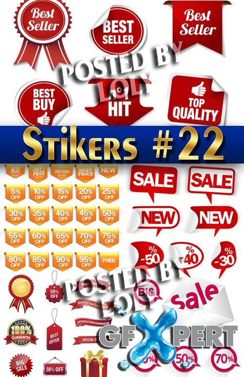 Stickers. SALE #22 - Stock Vector