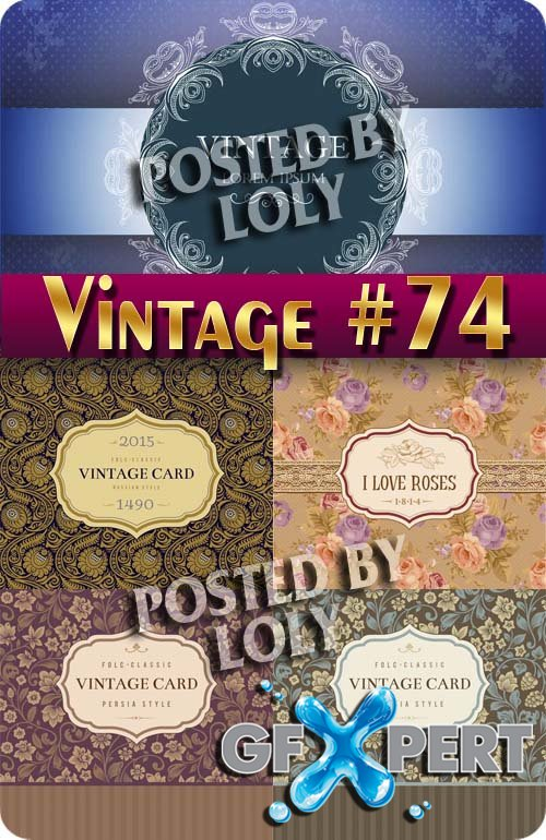 Vintage backgrounds #74 - Stock Vector