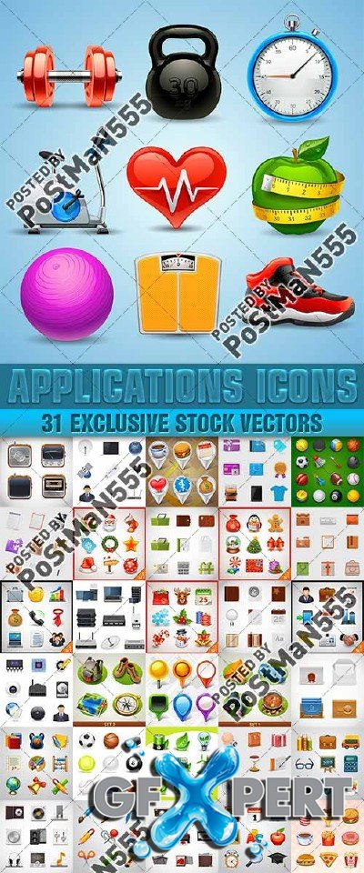 Applications Icons Collection - Vector
