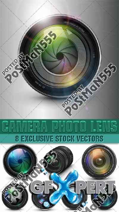 Photography professional lens - Vector