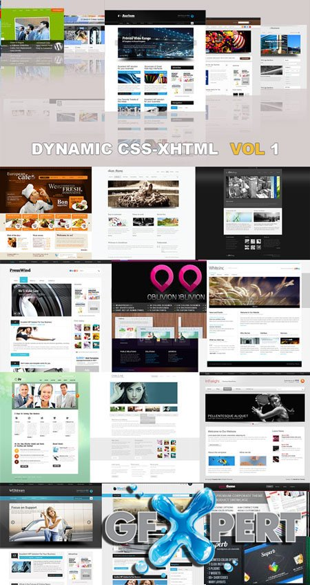 20 Dynamic CSS XHTML Templates Website Vol1