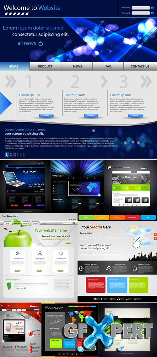 Website modern Design Template