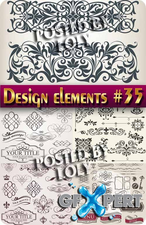 Design elements #35 - Stock Vector