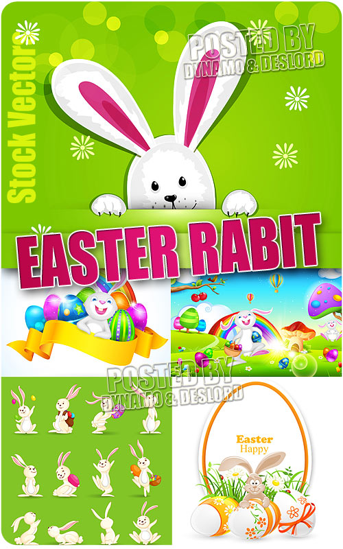 Easter Rabbit - Stock Vectors