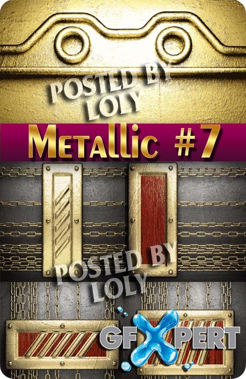 Metallic Backgrounds #7 - Stock Vector