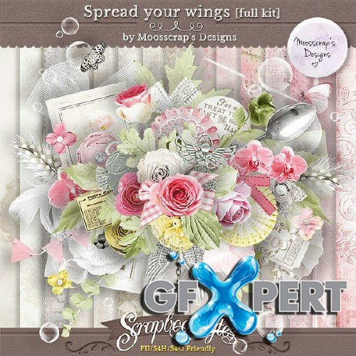 Digital scrap set - Spread your wings