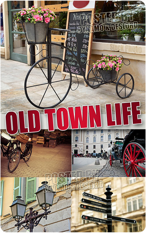 Old town life - UHQ Stock Photo