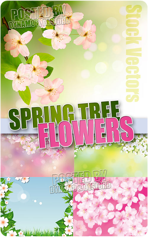 Spring tree flowers - Stock Vectors