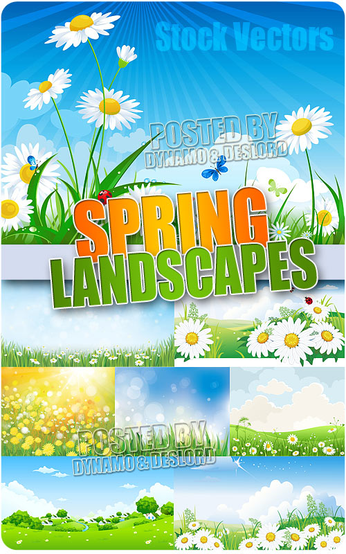 Spring Landscapes - Stock Vectors