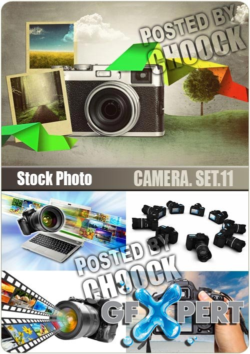 Camera. Set.11 - Stock Photo