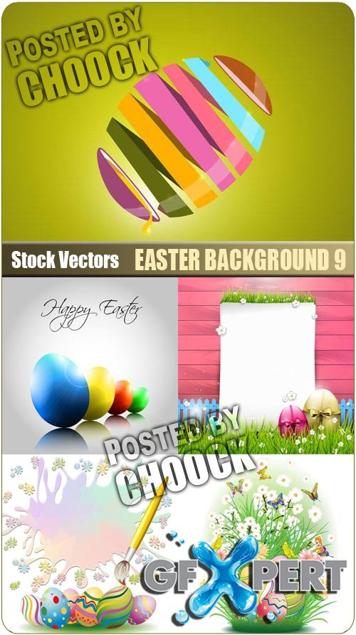 Easter background 9 - Stock Vector
