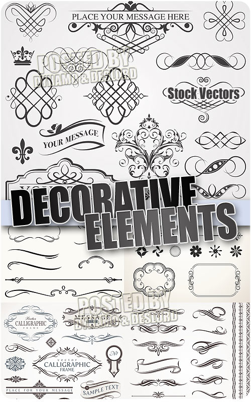 Decorative elements - Stock Vectors