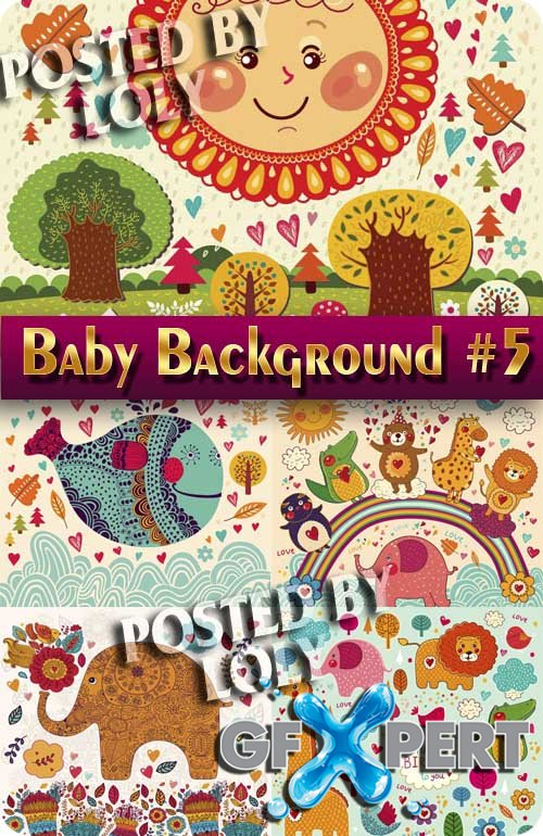 Baby backgrounds #5 - Stock Vector