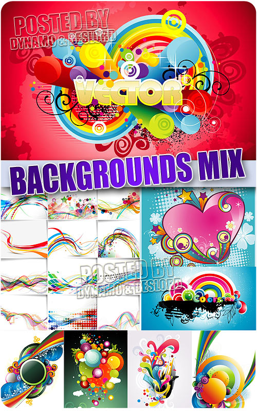 Backgrounds mix - Stock Vectors