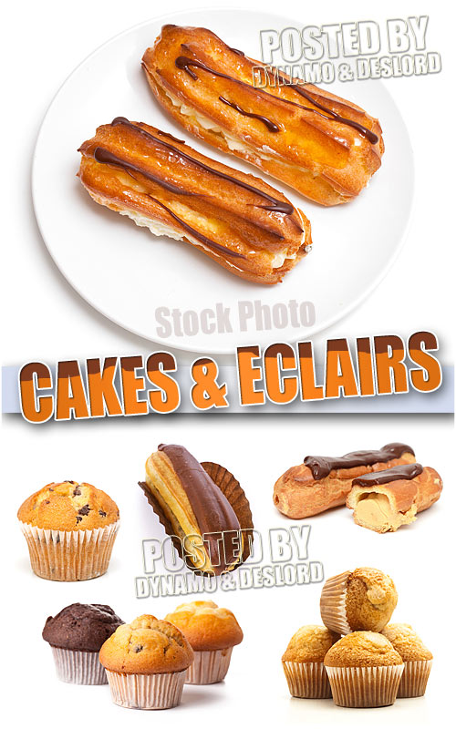 Cake and Eclair - UHQ Stock Photo