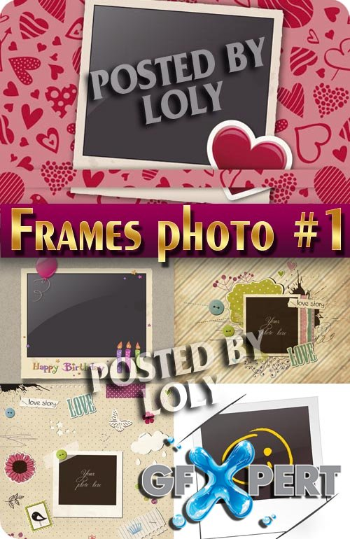 Frame for photo #1 - Stock Vector