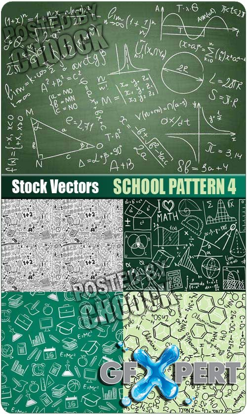 School pattern 4 - Stock Vector