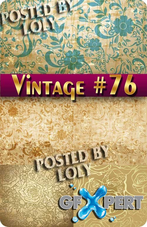 Vintage backgrounds #75 - Stock Vector