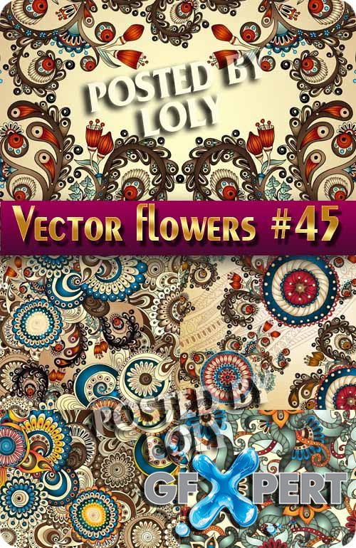 Vector Flowers #45 - Stock Vector