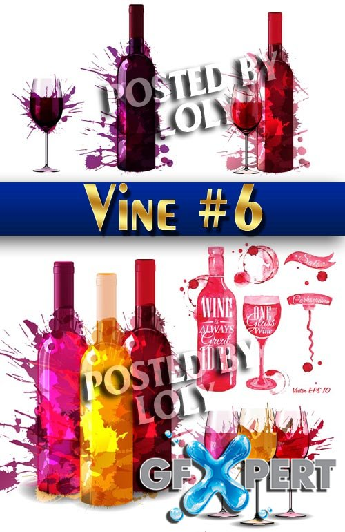 Vector Wine #6 - Stock Vector
