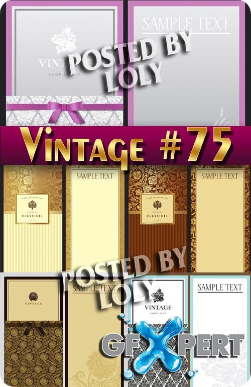 Vintage backgrounds #76 - Stock Vector