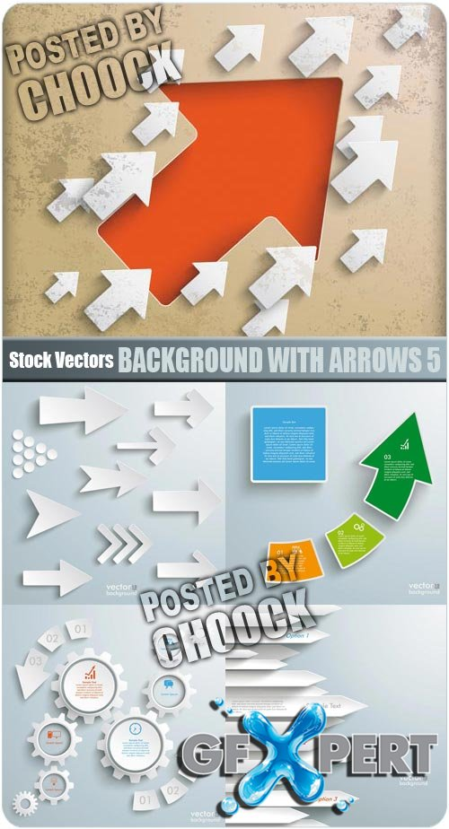Background with arrows 5 - Stock Vector