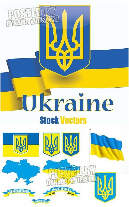Ukraine symbols - Stock Vectors