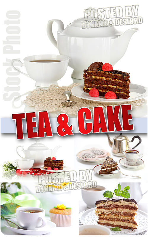 Tea and cake - UHQ Stock Photo