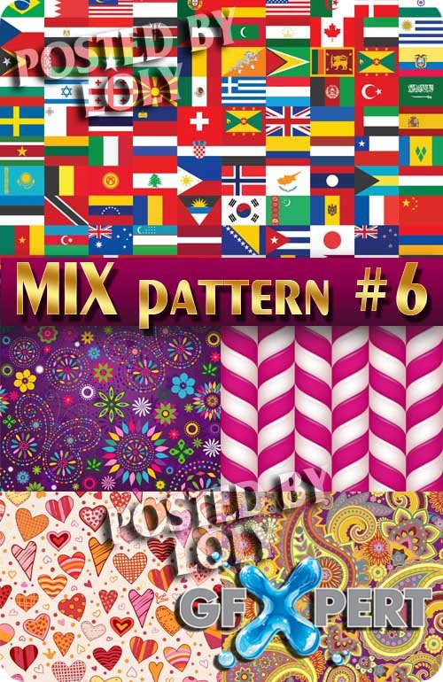 Mix Patterns #6 - Stock Vector