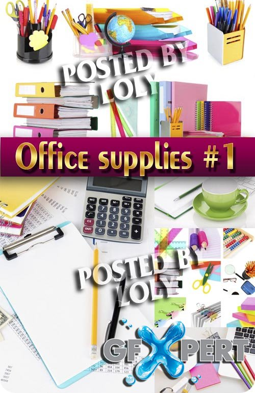 Office supplies #1 - Stock Photo