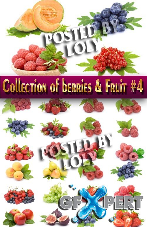 Food. Mega Collection. Berries and Fruits #4 - Stock Photo