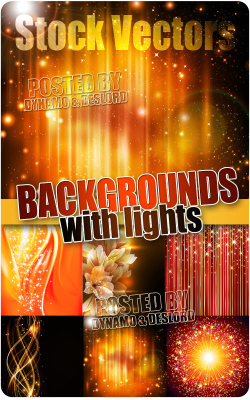 Backgrounds with lights - Stock Vectors