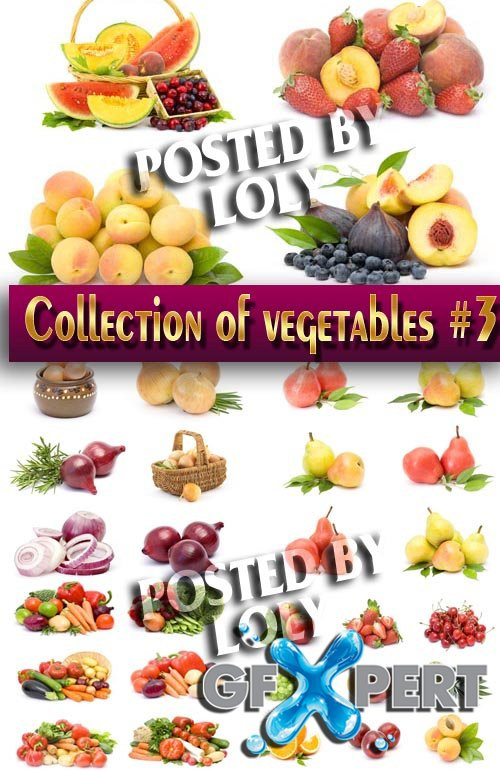 Food. Mega Collection. Fruits and Vegetables #3 - Stock Photo