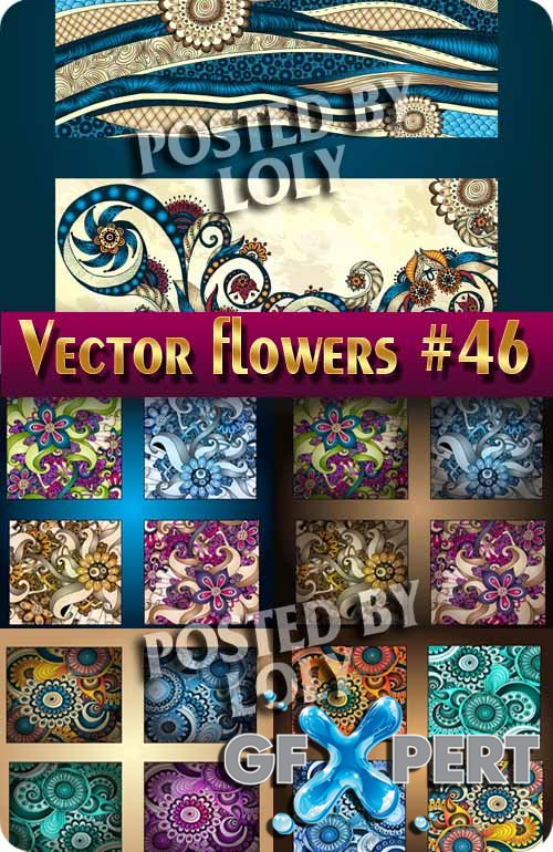 Vector Flowers #46 - Stock Vector