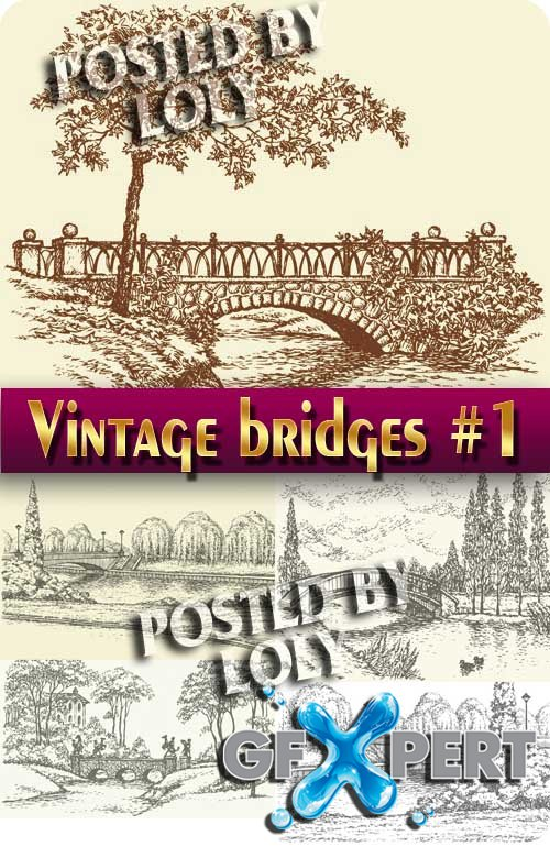 Vintage bridges #1 - Stock Vector