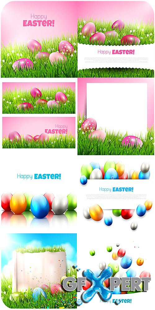 Happy Easter , Easter eggs vector