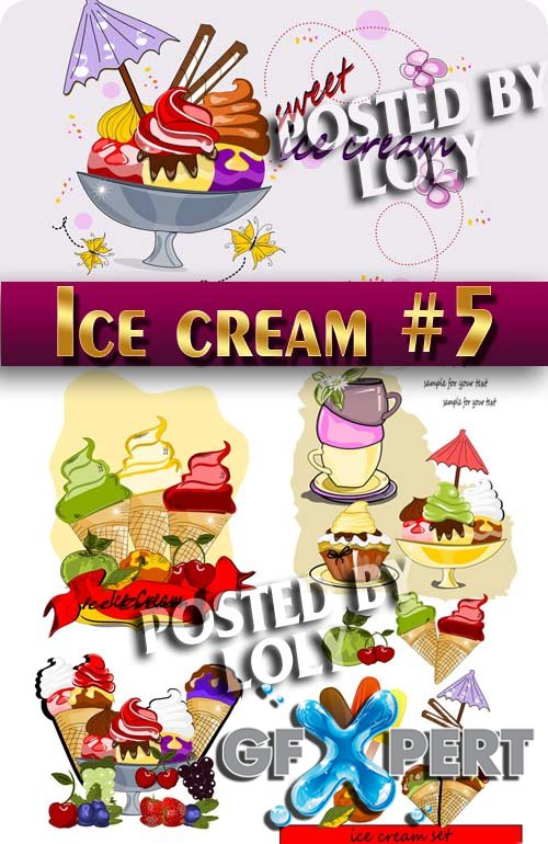 Ice Cream #5 - Stock Vector
