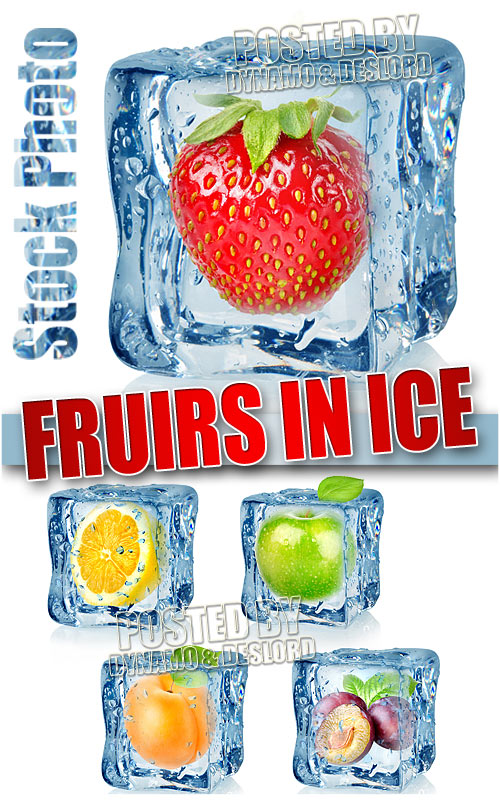 Fruits in ice - UHQ Stock Photo