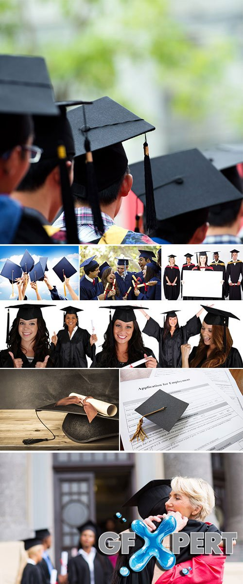 Stock Photo: Group of university graduates