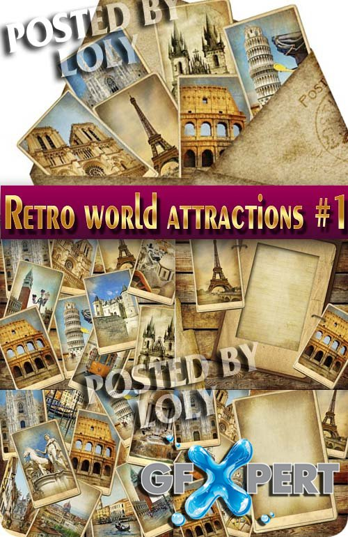 Retro. World Attractions #1 - Stock Photo